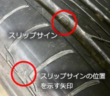 タイヤ交換時期チェック(残溝チェック)